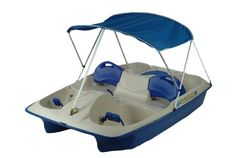 Santas Tools and Toys Workshop: Sporting Goods: KL Industries Sun Slider Adjustable Seat Lounger Pedal Boat with Canopy
