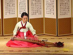 Gayageum - an ancient string instrument from Korea c1145