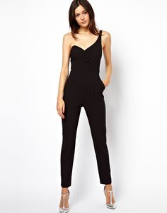 Jumpsuit with One Shoulder and Open Back