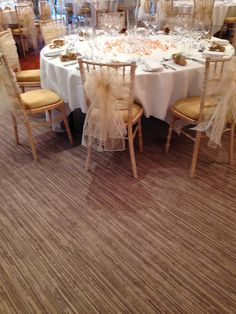 Ivory Organza and lace double sashes at The Vineyard, Stockcross by Simply Bows and Chair Covers