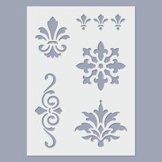 Stencil - Brokát - FN-DECO - Arts and Crafts