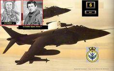 """2 Sea Harrier del 801 Escuadrón de la Royal Navy (NAS) , embarcados en el HMS Invincible , chocan en el aire antes de aterrizar en el portaviones ,debido a la mala condición metereológica reinante en el mar .  El piloto Lt.Curtiss (responsable del derribo de un bombardero Canberra argentino ) y el Comandante Lt. E.Jones perderían la vida al sur-oeste de Malvinas a las 9 pm .  """"...Estas PAC (Patrulla Aérea de Combate ) logran récords de horas de vuelo y sufren las peores condiciones de vuelo…"""