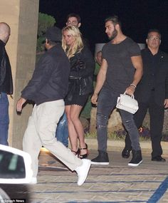 """Slide into style like Britney in a pair of Louboutin's  Click """"Visit"""" to buy #DailyMail"""