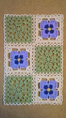 Ideas Crochet Afghan Squares Patchwork Blanket Knitting Patterns For 2019 3 Ideas - Knitting Ideas Point Granny Au Crochet, Crochet Squares Afghan, Crochet Blocks, Granny Square Crochet Pattern, Afghan Crochet Patterns, Crochet Motif, Crochet Designs, Crochet Flowers, Knitting Patterns