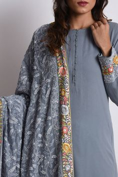 Handcrafted Suit With Dupatta Pakistani Fashion Casual, Pakistani Dresses Casual, Indian Fashion, Kurti Neck Designs, Kurta Designs Women, Blouse Designs, Embroidery Suits Punjabi, Embroidery Suits Design, Designer Dress For Men