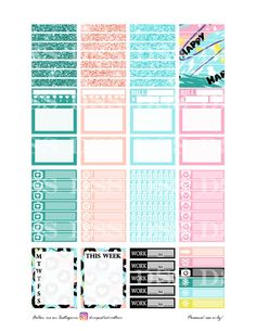 50% OFF SALE Abstract Valentines Planner Sticker/Happy Planner