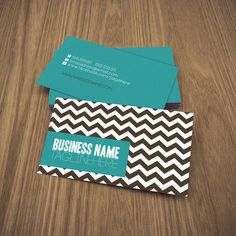 zig  double sided business card. $12.99, via Etsy.