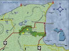 Upper & Lower Tahquamenon Falls are not far from MTU