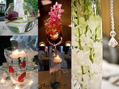 Submerged wedding flowers inspiration board