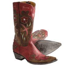 "Old Gringo Golondrita Vesuvio Cowboy Boots - 0-Toe, 12"" (For Women) - Save 25%"