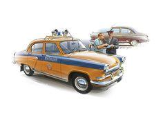 Рисунки автомобилей: Петр Перешивайлов ГАЗ-21С милиция