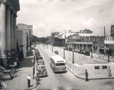 Mobile AL - Mobile in 1940s with Government Blvd and Bankhead tunnel