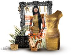 """""""Golden Vogue"""" by chloe-813 ❤ liked on Polyvore"""