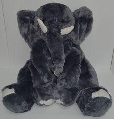 "Toys R Us Elephant Plush Gray White Tusks Floppy Stuffed Animal Big 23"" #ToysRUs http://stores.ebay.com/Lost-Loves-Toy-Chest/_i.html?image2.x=0&image2.y=0&_nkw=toys+r+us"