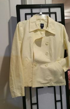 Light Yellow Women's GAP M Med Lightweight PEACOAT   Clothing, Shoes & Accessories, Women's Clothing, Coats & Jackets   eBay!