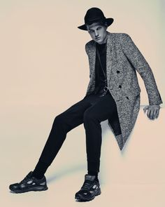 Saint Laurent Tweed Coat