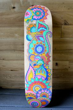 Hand Painted Skateboard by LavaBoards on Etsy
