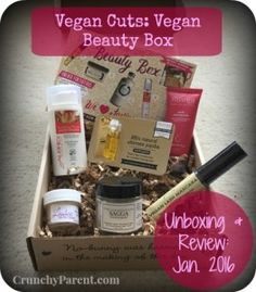 Vegan Cuts Vegan Beauty Subscription Unboxing & Review: January 2016 featuring Aubrey Organics, Earthlab Cosmetics, The Jojoba Compan, Wabi-Sabi Botanicals, & Lashea-Crunchy Parent #non-toxic #vegan #beauty