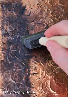 Aluminum Foil Art, Tin Foil Art, Copper Artwork, Melting Metal, Metal Embossing, Copper Tubing, Metal Shop, Supply List, Metal Crafts