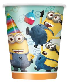 Despicable Me 2 - 9 oz. Paper Cups - Includes: (8) paper 9 oz. cups to match your party theme. Cups are versatile enough to serve warm or cold beverages.