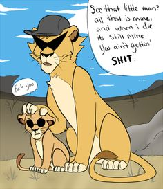 Homestuck. This is amazing. Dirk and Dave Strider. Why are they lions why is this lion king. Who even.