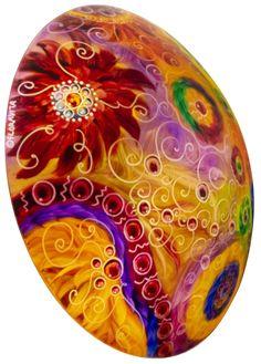 Painted Chandelier by artist Jenny Floravita Painted Chandelier, Chandelier For Sale, Light Art, Abstract Art, Hand Painted, Sunset, Outdoor Decor, Artist, Inspiration