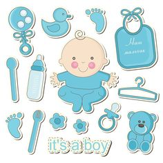 68 Ideas For Baby Shower Printables Girl Design Scrapbook Bebe, Baby Boy Scrapbook, Scrapbook Layouts, Album Baby, Dibujos Baby Shower, Moldes Para Baby Shower, Baby Shawer, Diy Baby, Baby Stickers
