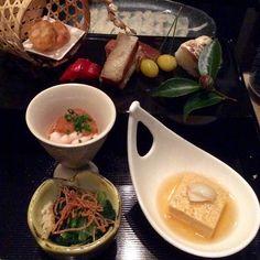 Appetiser of the Seasonal Kaiseki course by Nadaman.