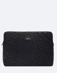funda-portatil-leopardo-negro Collection, Notebook Covers, Plushies, Black