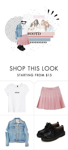 """""""Blackpink in your area ^.^"""" by sannannanna ❤ liked on Polyvore featuring WithChic, Mateo and Old Navy"""