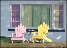 pink & yellow chairs
