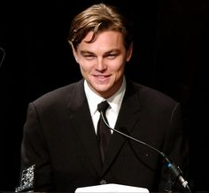 BEVERLY HILLS, UNITED STATES:  Hollywood actor Leonardo DiCaprio accepts the Outstanding Directing Award on behalf of director Martin Scorsese at the Hollywood Film Festival's Gala Ceremony and Hollywood Movie Awards, in Beverly Hills, CA, 07 October 2002.  AFP PHOTO/Lucy NICHOLSON (Photo credit should read LUCY NICHOLSON/AFP/Getty Images)                                     via @AOL_Lifestyle Read more: http://www.aol.com/article/2016/04/08/leonardo-dicaprio-reportedly-d...