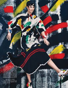 """Neo-Expressiv"" Drake Burnette by Sebastian Kim for Vogue Germany January 2014"