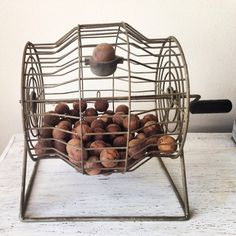 Vintage Bingo Cage with Balls / Vintage by handpickedtreasures8