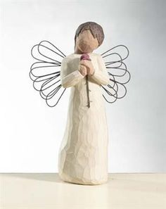 Willow Tree Angel with Rose