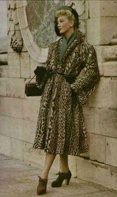1947 Mendel manteau ocelot