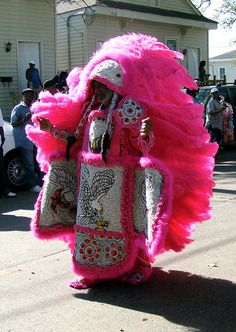 Mardi Gras Indian in New Orleans.