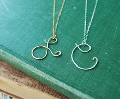 Personalized Initial Necklace.