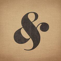 Elephant Italic Ampersand - burlap typography farm style