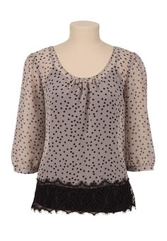 Lace and polka dots- gotta love it!