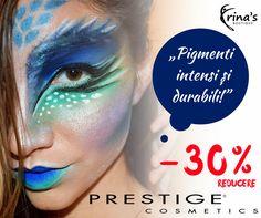 """Frumoasa Make-Up Artist, Eliana Bogdan, recomanda produsele Prestige Cosmetics: """"Produsele de makeup au reușit sa se plaseze pe primul loc în lista toturor cosmeticelor pe care le folosesc atât pentru clientele mele cât și pentru mine. Pigmenți intensi și durabili!""""  In perioada 1-31 Iulie te bucuri de -30% DISCOUNT la toate produsele de make-up PRESTIGE Cosmetics!  #irinasboutique #makeup #prestigecosmetics Irina S, Prestige Cosmetics, The Prestige, Carnival, Boutique, Face, Perfume Store, Carnavals, The Face"""