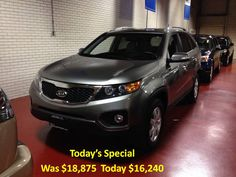 Today's Special 2011 Kia Sorento 38k automatic, Bluetooth. For the best deal on wheels call Jim Zim @ 203-783-5850 ext 1308
