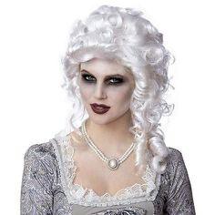 Let/'s Dance Victorian Colonial 18th Century Black Womens Costume Wig