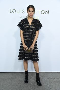 Urassaya Sperbund attends the Opening Of The Louis Vuitton Boutique as part of the Paris Fashion Week Womenswear Spring/Summer 2018 on October 2, 2017 in Paris, France.