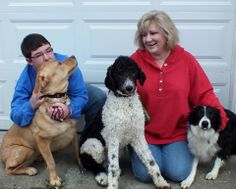 Nekko (center) has found his forever home and joins doggy siblings Highway and Anne!