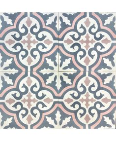 This Pin has tons of ideas and inspiration for tile that makes an impact on your space! Moroccan, cement, even hexagon tile in different colors and patterns- I love it all! Cement Tiles Bathroom, Bathroom Flooring, Mosaic Tiles, Wall Tiles, Pink Tile Bathrooms, Floor Patterns, Tile Patterns, Pink Toilet, Shower Recess
