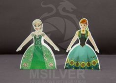 Frozen Fever: Free Printable Dress Shaped Boxes.