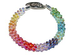 Kumihimo Braided Bracelet Kit - Pastel Rainbow AB2x from Nosek's Just Gems