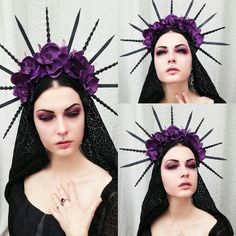 This item is unavailable Gothic Crown, Gothic Art, Victorian Gothic, Fantasy Witch, Dark Fantasy, Autumn Witch, Halloween Outfits, Halloween Ideas, Witchy Outfit