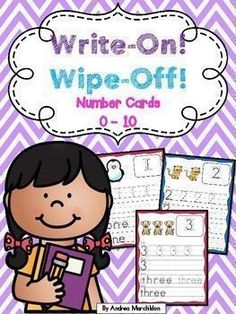 These Write & Wipe Handwriting Practice for Numbers 1 - 10 are great for kindergarten or preschool students learning numbers. Just print and laminate! Students will have fun using a dry-erase marker to complete these number mats. Handwriting Activities, Improve Your Handwriting, Improve Handwriting, Nice Handwriting, Handwriting Worksheets, Handwriting Practice, Number Writing Practice, Learning Numbers, Writing Numbers
